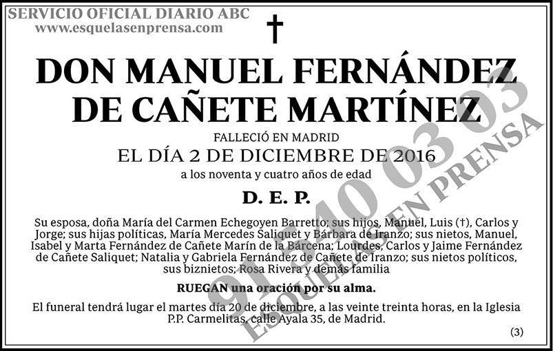 Manuel Fernández de Cañete Martínez